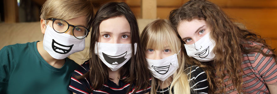 Masques en tissu enfants